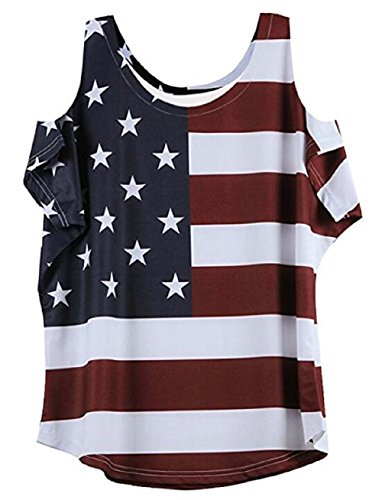 - OMONSIM Fourth Of July T shirt Patriotic T-Shirt American Flag T Shirt Independence Day Tee (Small, Blue)
