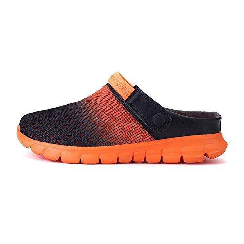 Accueil Pente Chaussons Mules Respirant Unisexe Sur Chaussures Engrener Chaussures Orange 36 Femmes 46 Plage Meedot Hommes Jardin Sabots Caleçon Scandales qtnapw86