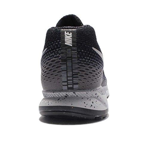 Nike Herren Air Zoom Pegasus 33 Schwarz / Metallic Silber-Dunkelgrau-Stealth