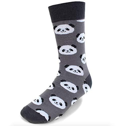 Urban-Peacock Men's Novelty Fun Dress Socks - Multiple Patterns/Multi-Pair Options (Panda Bears - Grey, 1 Pair) ()