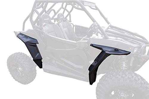 SuperATV Heavy Duty Fender Flares for Polaris RZR S 1000 / S4 1000 (2016+) - Full Set (Front & Rear)