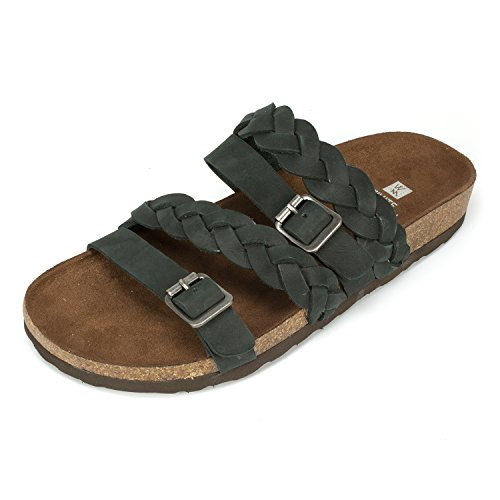 (WHITE MOUNTAIN Shoes 'Holland' Women's Sandal, Black - 11 M)
