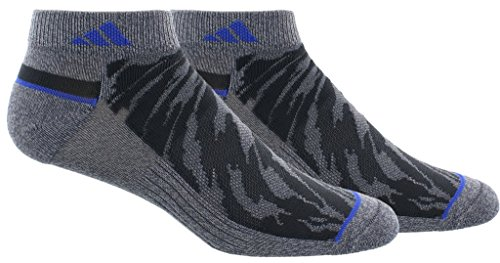 adidas Mens Superlite Prime Mesh Low Cut Socks (2-Pack), Blue/Black, Size 6-12
