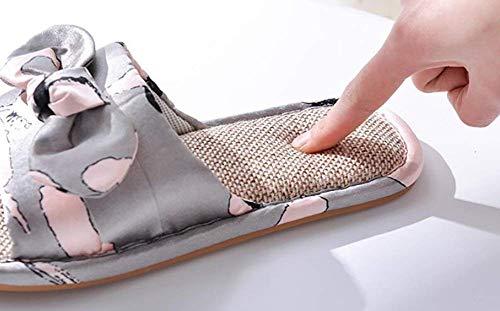 Yingsssq Lino C Per Mostrato Fondo Come Addensato Memoria Accogliente In Di Dimensione Taglia Antiscivolo Infradito Pantofole 40 41 colore Mostrato Unica uomo Donna Schiuma wrS7wq6A