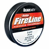 FireLine Braided Beading Thread 6 pound-test Clear .006 Inch Average Diameter 125 Yards