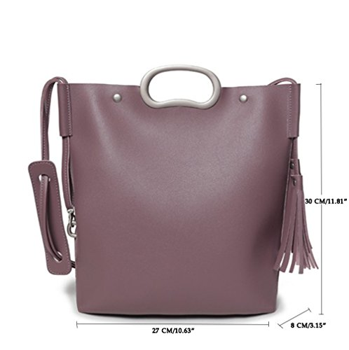 Wine Bags 8 Hand Women Bag Purse Travel Bags Shoulder red Linnuo Leather Handbags 30cm 27 Purple 2 Large piece Shoulder Pu p0qw6axE