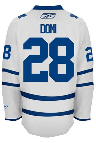 Toronto Maple Leafs VINTAGE Tie DOMI #28 Official Road Reebok NHL Hockey Jersey (SEWN TACKLE TWILL NAME / NUMBERS)