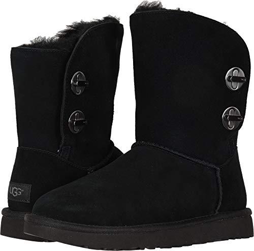 UGG Womens Classic Short Turnlock Boot, Black, Size 7 (Short Classic Ugg Australia Boot)