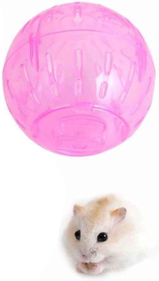 Wuqiong Pet Rodent Mice Hamster Gerbil Rat Jogging Play Exercise Ball Plastic Toy Random Color