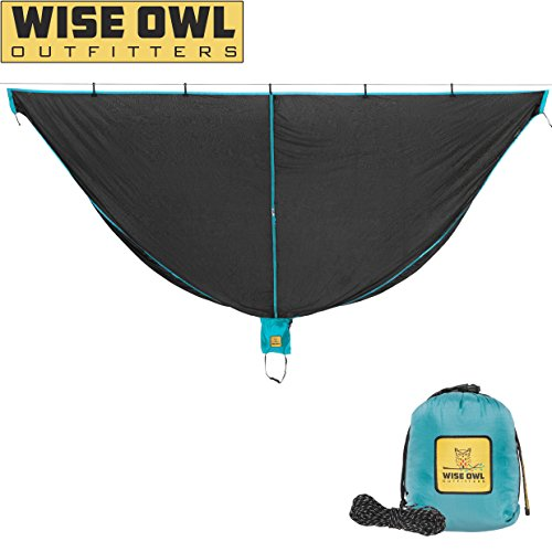 Wise Owl Outfitters Hammock Bug Net - SnugNet The Perfect Mesh Netting Keeps No-See-Ums, Mosquitos and Insects Out - Black and Blue