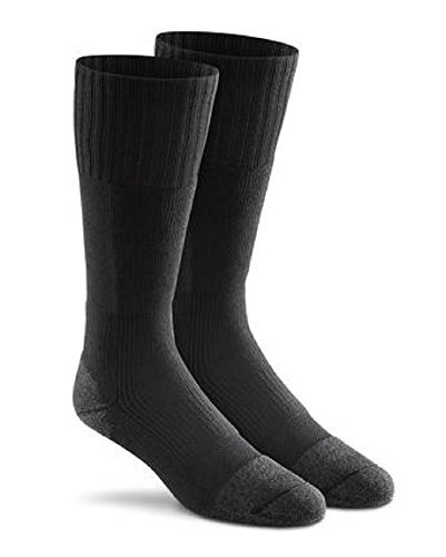 Fox River Men's Wick Dry Maximum Mid Calf Military Sock, 3 Pack (Black, Large) (Fox Mens Black)
