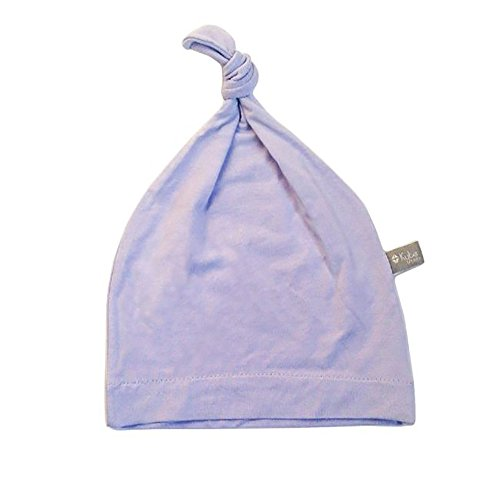 KYTE BABY Organic Bamboo Baby Beanie Hats - Super Soft Knotted Caps Available in Pattern and Solid Colors (NB, Lilac)