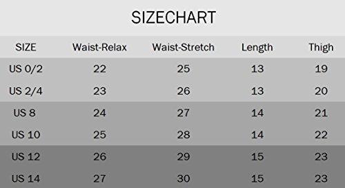 Yknktstc Womens Elastic Waist Cotton Linen Casual Beach Shorts with Drawstring US 14 Style 2 Grey by Yknktstc (Image #2)