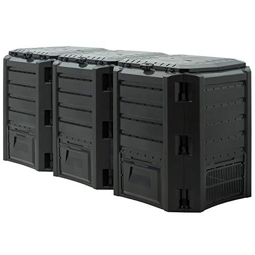 Deub Garden Composter Size Choice 380L 800L 1200L 1600L Compost Converter Composting Unit Eco Friendly Organic Rubbish…