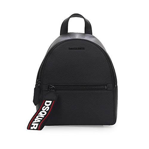 Women's Accessories Dsquared2 Evolution Tape Black Leather Small Backpack FW 19-20