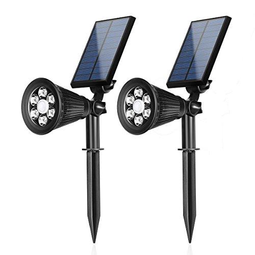 Solar Power PIR Motion Sensor Wall Light Waterproof Warm light Lamp - 7