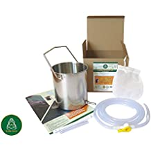 Enema Bucket Kit by D-LifeForce™| Includes, Large Stainless Steel Enema Bucket & 6ft Silicone Tube| For Water & Coffee Enemas, Gerson, Colon cleanse, Douche For Woman & Man| FDA approved & Non Toxic