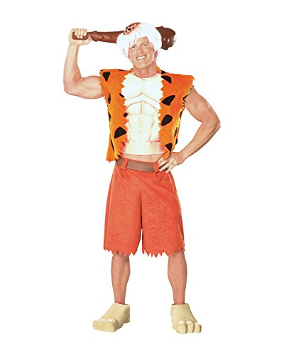 Pebbles And Bam Bam Adult Costumes - Rubie's Adult Deluxe BAMM BAMM Costume -