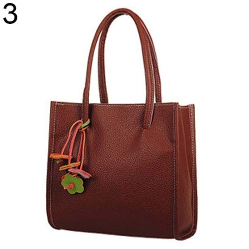 Colors Bag Clearance Faux Leather Sale Zipper Brown Shoulder Bangle009 Women's Handbag Brown Flowers Sweet Candy xXUqPwqg
