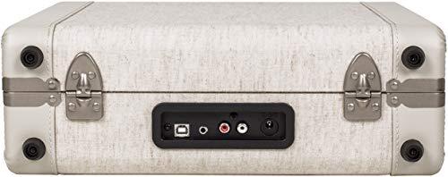 Crosley CR6019D-SA Executive Vintage Bluetooth 3-Speed Portable Suitcase Turntable with USB, Sand