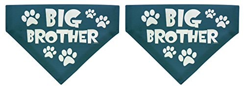 ThisWear Dog Gifts Big Brother Small Dog Bandana Small Dog Bandanas 2-Pack Scarves Dogs Bibs Big Brother