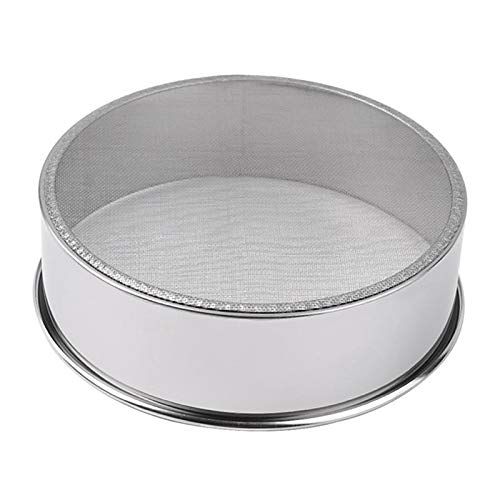 Fine Mesh Flour Sifter Stainless Steel Silver Net Sieve Sifting Strainer Cake Baking Powdered Sugar - Flour Sieve (Sifter Silver)