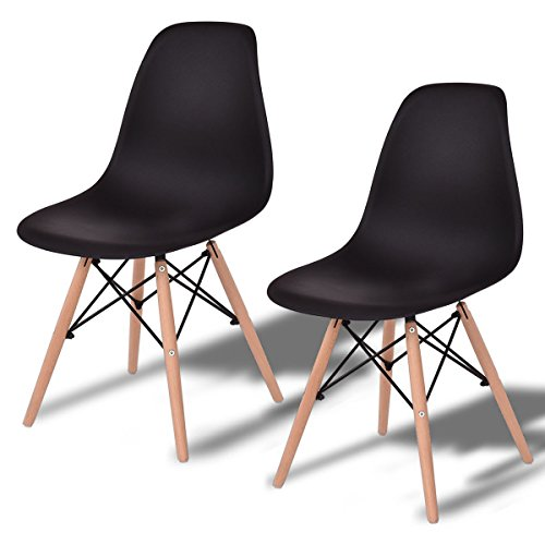 ing Chairs Wooden Furniture for Indoors (2, Black) ()