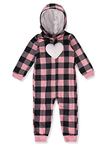 (Carter's Baby Girls' Plaid Hooded Fleece Jumpsuit, 3 Months)