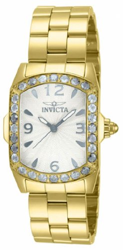 Invicta Lupah Crystal Gold-tone Ladies Watch 14128 [Watch] Invicta