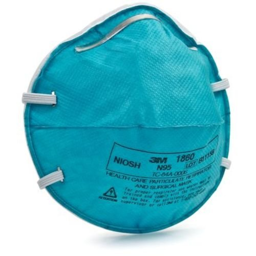 3M Health Care 1860 Regular Particulate Respirator Mask Cone, Molded (Pack of 120)