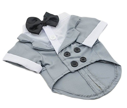 Small Grey Formal Dog Tuxedo Costume ...  sc 1 st  dogweddingdress.com & Small Grey Formal Dog Tuxedo Costume by Midlee | Dog Wedding Dress