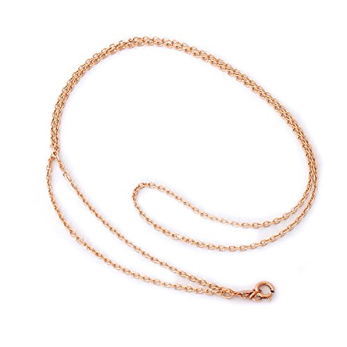 14k Rolo (14k Rose Gold 1.6mm Round Rolo Cable Chain Necklace, 16