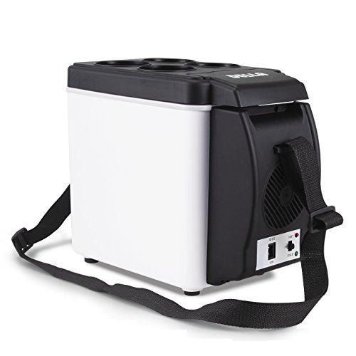 Portable Electric Refrigerator 7 Quart Adjustable
