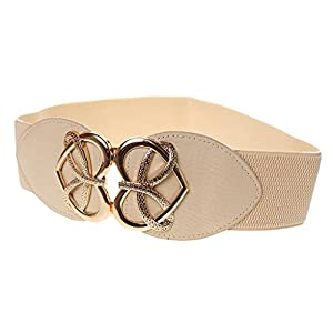 Generic Women's Fashion Waist Belt (In0255011370,Beige,61Cm*6Cm)