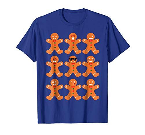 - Gingerbread Man T-Shirt, Cookie Emoji Shirt Christmas Outfit