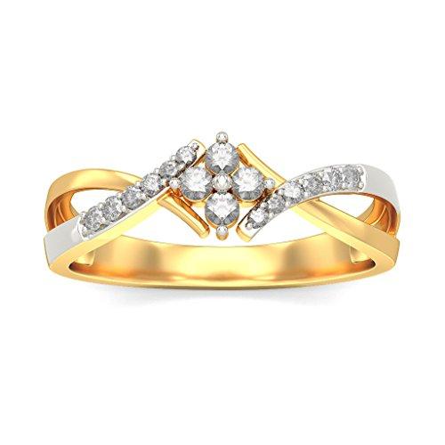 Or jaune 18K, 0,19carat Diamant Blanc (IJ | SI) en diamant