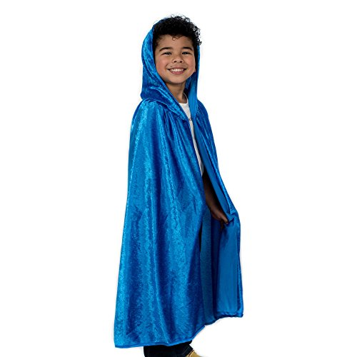 Kids Cosplay Hooded Cloak Cape - Royal Blue