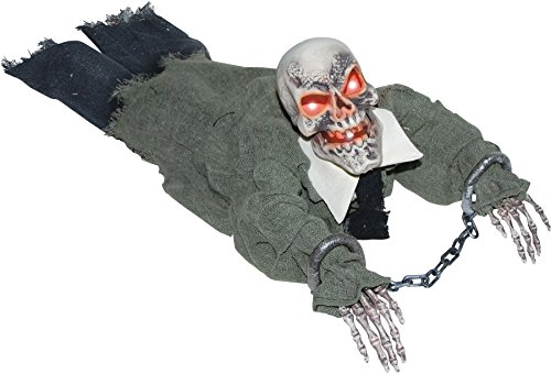 UHC Scary Haunted House Crawling Ghoul Horror Decoration Animated Halloween Prop]()