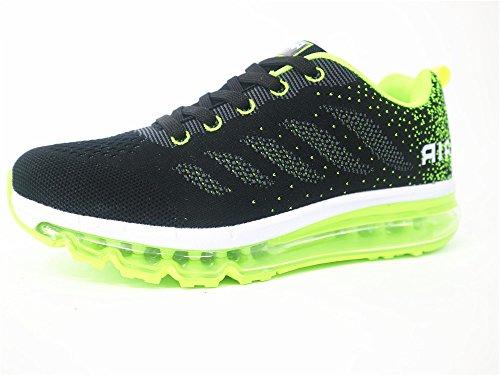 Sportive Scarpe Donna Verde Basse Fitness Ginnastica Casual Running Air all'Aperto Uomo da Corsa Sneakers Nero Interior EYqWp
