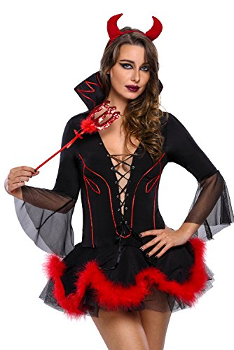 Adam's Temptation Alluring Evil Sexy Devil Costume Set (One Size)