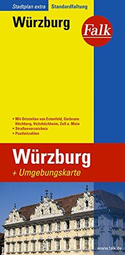 Falk Stadtplan Extra Standardfaltung Würzburg