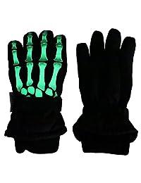 N'Ice Caps Kids Glow in the Dark Skeleton Print Thinsulate Waterproof Gloves
