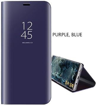 SHIEID® Samsung Galaxy J8 2018 Espejo Funda de Espejo Flip Case ...
