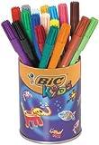BIC Kids - Paquete de rotuladores permanentes en caja metálica (36 de unidades), multicolor