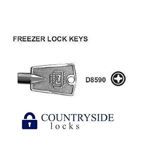 Freezer Key Cross Pattern National D8590 2 Pack