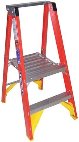 Werner p6202 kg Deber calificación Fibra de vidrio plataforma escalera, taburete: Madonna: Amazon.es: Bricolaje y herramientas