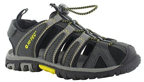 Hi-Tec Cove Sandals Kids Black/Charcoal/Super Lemon 2017 Sandalen