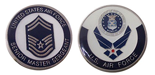 """Air Force ENLISTED RANKS - Senior Master Sergeant """"E8'' Collectible Challenge Coin /Logo Poker / Lucky Chip/ Gift"""