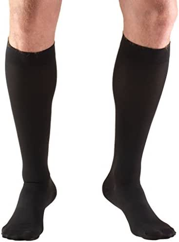 Truform 30-40 mmHg Compression Stockings for Men and Women, Knee High Length, Closed Toe, Black, 3X-Large