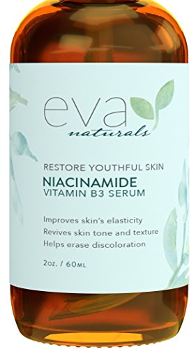 Vitamin B3 5% Niacinamide Serum by Eva Naturals (2 oz) - Niacinamide Benefits Skin with Incredible Anti-Aging and Reduces Appearance of Wrinkles, Acne and Discoloration - With Hyaluronic Acid and Aloe